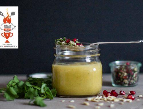 Kohlrabisuppe mit Granatapfel-Gremolata