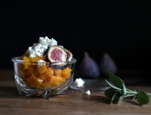 Kürbissalat mit Feigen und Feta